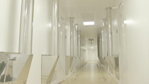 bright corridor Stock Video Footage