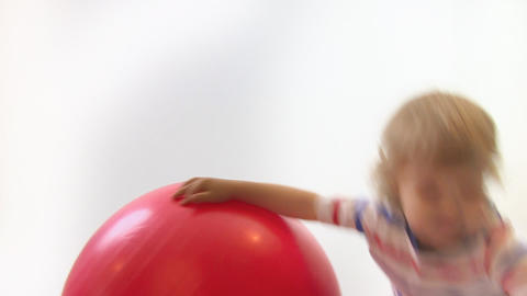 young boy with ball Stock Video Footage
