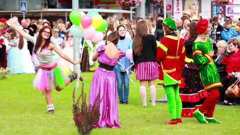 People at the carnival 3 Stock Video Footage