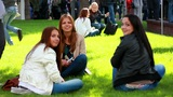 Youth People In The Park 1 stock footage