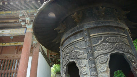 China religion Inscriptions on censer iron tower,oriental... Stock Video Footage