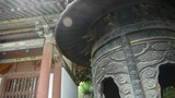 China religion Inscriptions on censer iron tower,oriental elements temple Footage