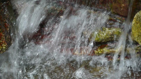 river stream on mountain valley Stock Video Footage