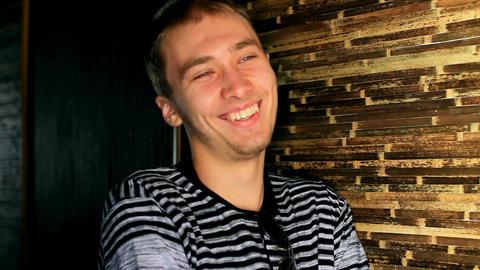 Man smiles at camera Stock Video Footage