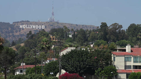 Hollywood Hills Neighborhood 01 Stock Video Footage