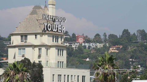 Hollywood Tower 02 Stock Video Footage