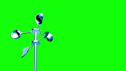 Anemometer (Loop on Green Screen) Animation