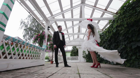 Happy wedding couple Footage