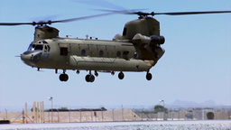 Chinook helicopter taking off Footage