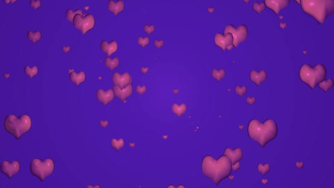 Animated background with hearts Animation