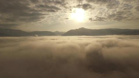 ドローン空撮映像。雲海 ビデオ
