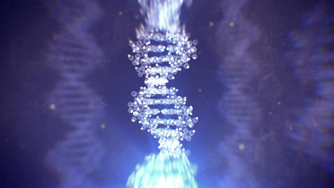 Digital DNA structure rotate Animation