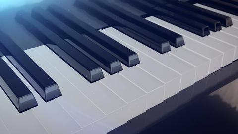 Grand piano keys Animation