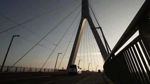 Berliner Street Bridge in Halle Germany Silhouette GIF