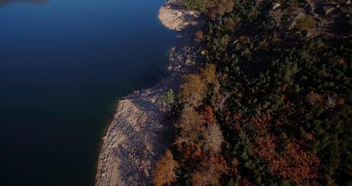 Aerial, Flight Over Rio Homem, Portugal Footage