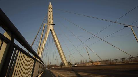 Berliner Street Bridge in Halle Germany Timelapse Footage