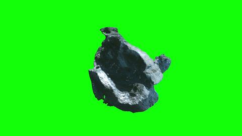 Meteorite stone rotation chromekey Animación