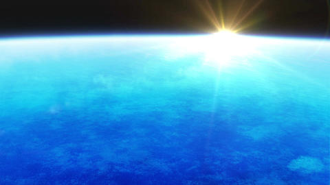 Earth atmosphere with sunlight Animation