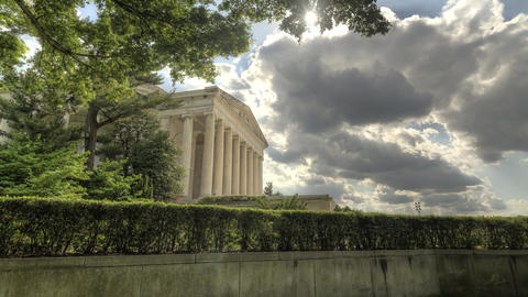 Sunset Behind Jefferson Memorial - HDR Timelapse 1 Live Action