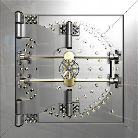 Bank vault door フォト