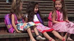 School Children Adorable Girls Live Action