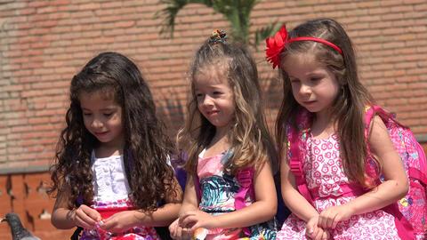 Adorable Children And Preschoolers Footage