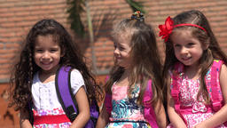 Young Girls Preschool Kids Footage