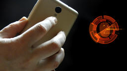 Smartphone. Access control with fingerprint scanner Filmmaterial
