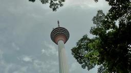Malaysia Kuala Lumpur 034 rotating camera of kl tower from below Footage
