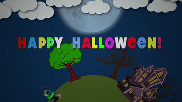 Circle halloween Plantilla de Apple Motion