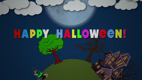 Circle halloween Apple Motion Template