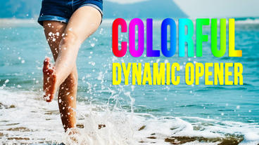 Colorful Dynamic Opener AE 模板