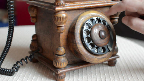 close-up view on old telephone dial Footage