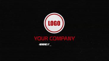 Glitch Logo Reveal After Effects Projekt