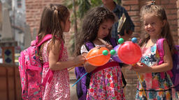Girls Preschoolers And School Children Footage