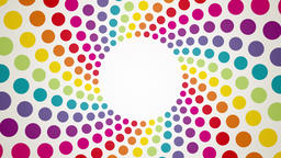 Abstract background with colorful rotating polka dots endless loop Animation
