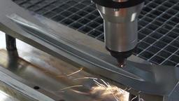 metal laser cutting detail Footage