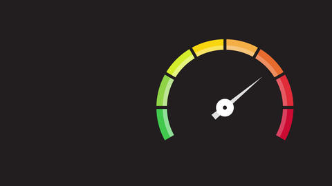 tachometer with color values Animation