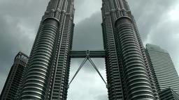 Malaysia Kuala Lumpur 046 symmetrical picture of petronas twin towers Footage