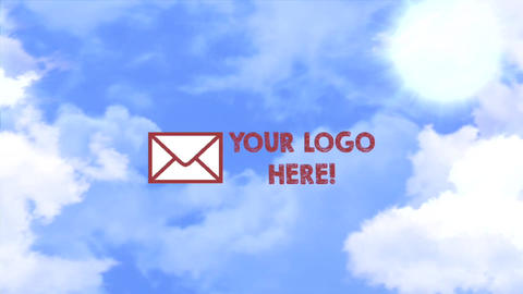 Clouds logo Apple Motion Template