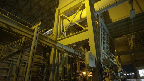 Large Furnace for Glass Sand Melt I Plant Footage