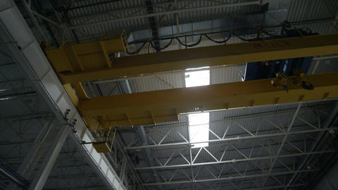 High Ceiling in Empty Factory Storage Footage