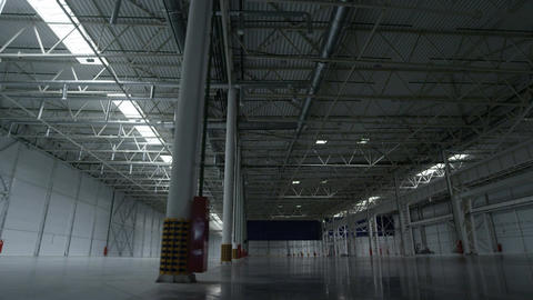 High Empty Space of Factory Storage Footage