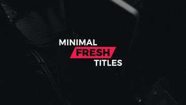 12 Fresh minimal titles (4K) After Effects Project
