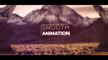 Minimal slideshow After Effects Project