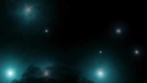 Flickering Lights with smoke - Blue green Animation