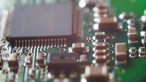 Circuit board closeup Footage