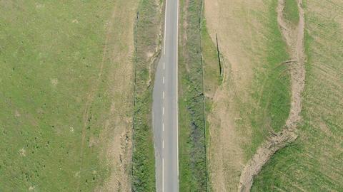 Aerial View Road in Rural Landscape Footage