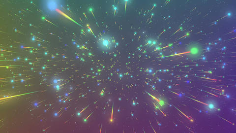 Colorful particles of outer space Animation