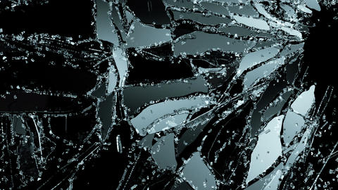 glass breaking and shatter in slow motion. Alpha matte Animation